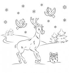 reindeer Rudolf vector image