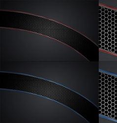 Automotive Grill Background Set vector image