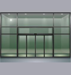 Facade with sliding doors vector