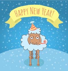New Year lamb vector image