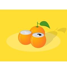 orange can vector image