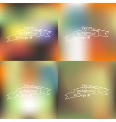 Set of four bright blurry backgrounds vector image