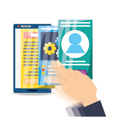 smarphone apps to can see documents vector image
