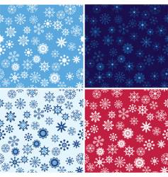 snow seamless background set vector image