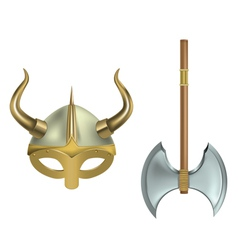 viking equipment vector image vector image