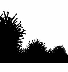 wave crowd vector image