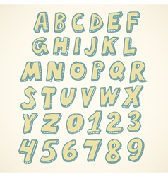 Doodle alphabet vector image vector image