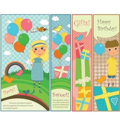 Kids Party and Birthday Banners vector image vector image