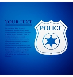 Police badges flat icon on blue background vector image