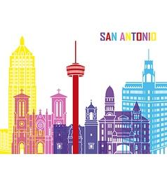 San Antonio skyline pop vector image vector image
