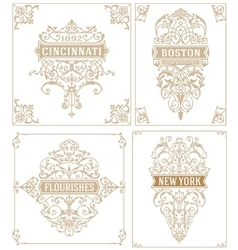 Vintage logos Cards and elements vector image vector image