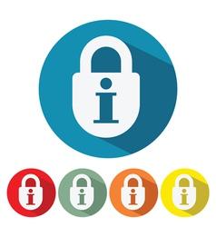 information security web icon flat design vector image vector image