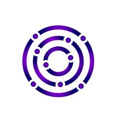 Abstract colorful circle logo design vector