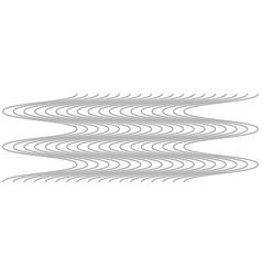 Abstract wavy waving zigzag lines elementvertical vector
