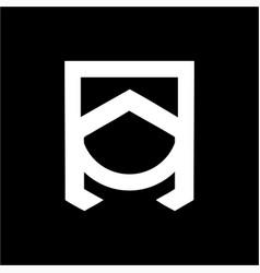 an na aon initials geometric company logo vector image