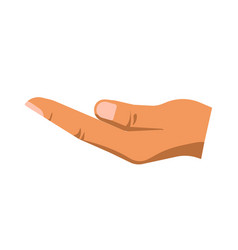 Begging hand of person vector