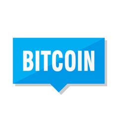 Bitcoin price tag vector