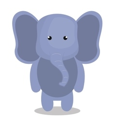 Cartoon elephant animal plush stuffed design vector