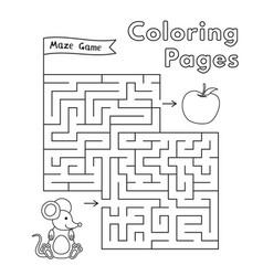Cartoon mouse maze game vector