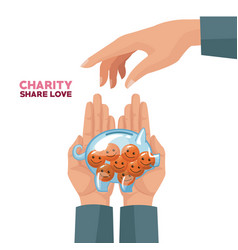 charity share and love vector image