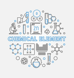 chemical element round outline vector image