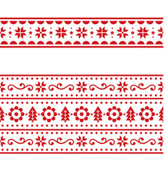 Christmas scandinavain folk art repetitive vector