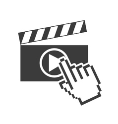 Clapper media player icon vector
