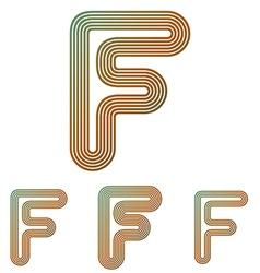 Color line f logo design set vector