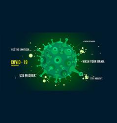 Coronavirus covid19-19 and virus background vector