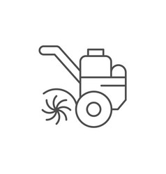 cultivator or tiller line icon vector image