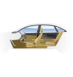 Cut away car vector image