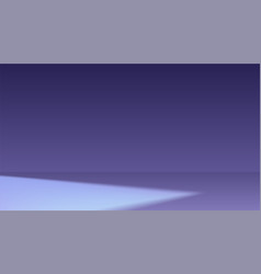 dark room with spot of light minimalistic vector image