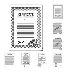 design of form and document icon vector image
