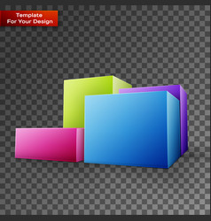 diagram icon on transparent background vector image