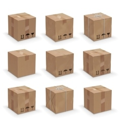 Different boxes vector