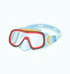 diving masks vector image