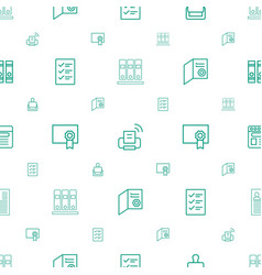 Document icons pattern seamless white background vector