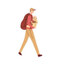 Father carries bain an ergo vector