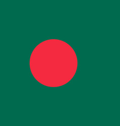 Flag of bangladesh in national colors vector