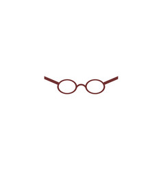 flat glasses icon vector image