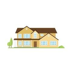 flat icon suburban american house vector image