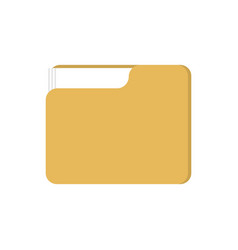 folder with files isolated working documents for vector image