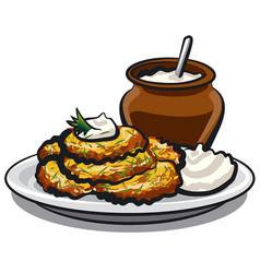 Fried potato pancakes vector