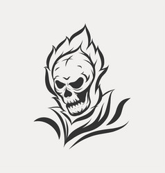 ghost skull icon logo vector image