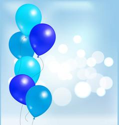 Glossy shiny balloons party decorations birthdays vector