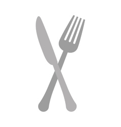Gray knife and fork icon design vector image
