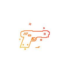 gun pistol police weapon icon design vector image