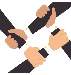 Hands human teamwork isolated icon vector