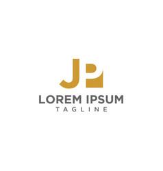 Jp negative space logo vector