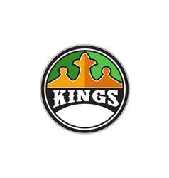 King Crown Kings Circle Retro vector